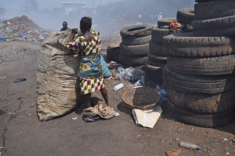 Landfill in Freetown - waste collection